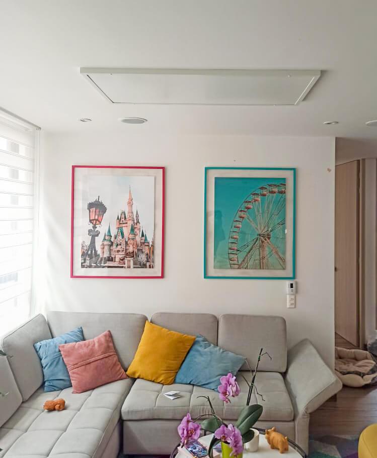 sala interior hogar calefaccion por radiacion infrarrojos irradiant colombia